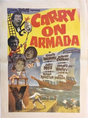 carry on armada or carry of jack 1964 New Zealand daybill poster