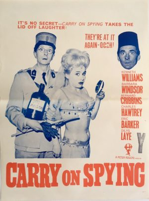 carry on spying 1964 New Zealand daybill poster