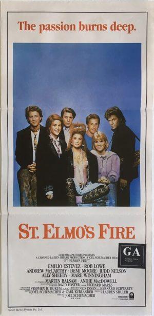 St. Elmos fire daybill poster