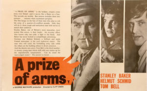 a prize of arms new zealand uk promotional flyer 1962 with stanley baker