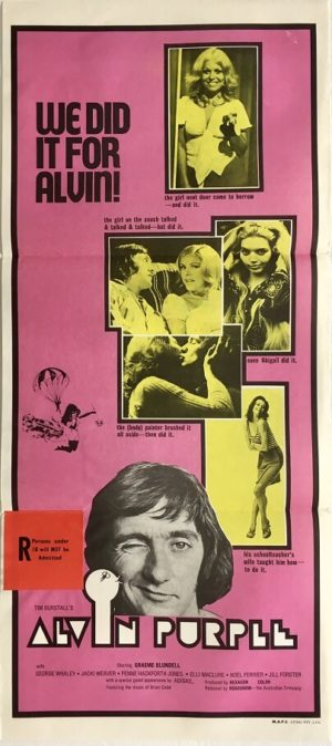 alvin purple daybill poster 1973 the sex therapist