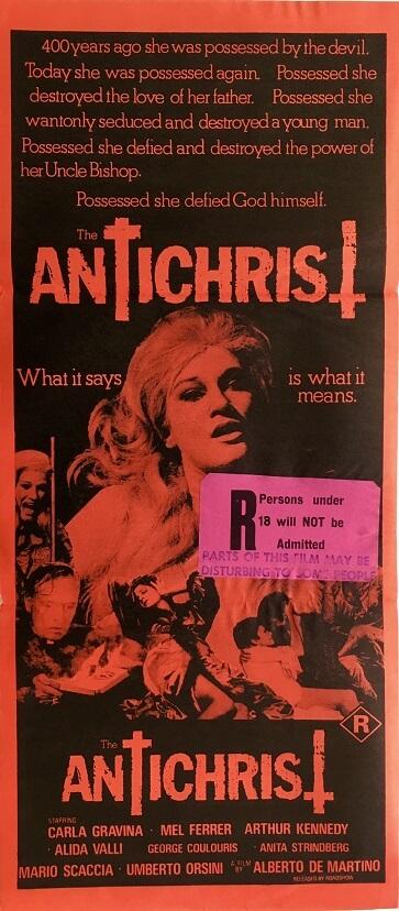 antichrist daybill poster 1978 alberto de martino L'anticristo