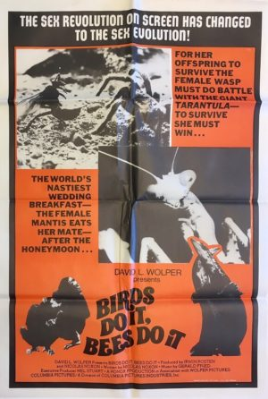 birds do it bees do it australian one sheet movie poster
