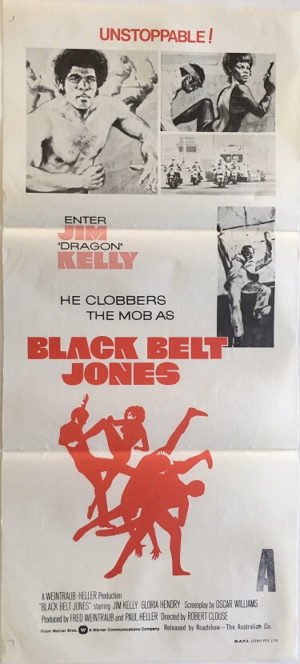 black belt jones australian daybill movie poster