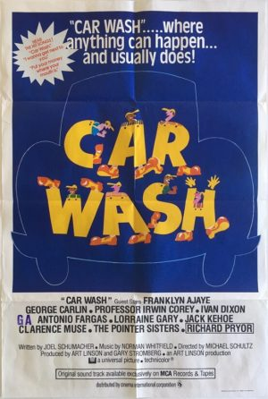 car wash uk one sheet movie poster 1976