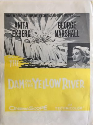 dam on the yellow river new zealand daybill poster featuring anita ekberg 1960