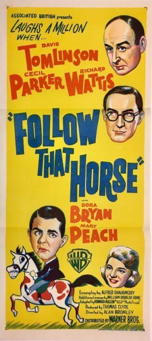 follow that horse daybill movie poster