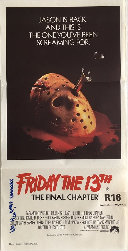 friday the 13th the final chapter daybill poster