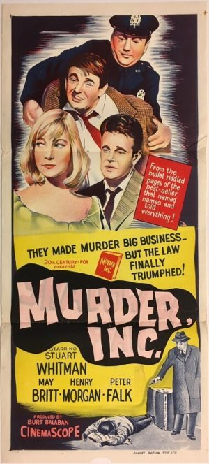 murder inc shadow of fear daybill poster with stuart whitman