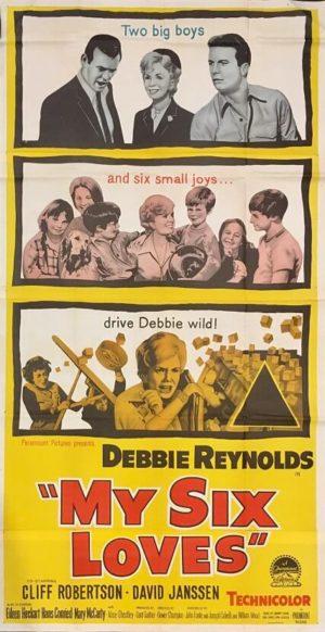 my six loves australian 3 sheet movie poster with debbie reynolds