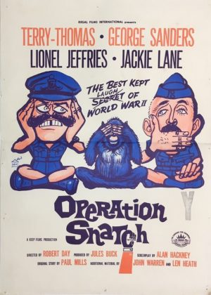 operation snatch new zealand daybill poster