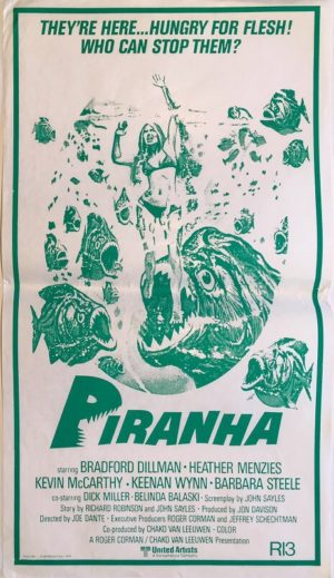 piranha new zealand daybill poster