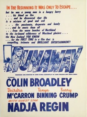 runaway new zealand daybill movie poster