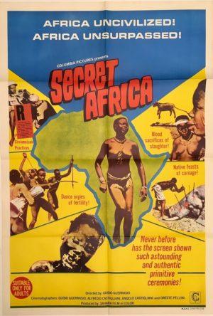 secret africa australian one sheet poster 1969 Africa segreta