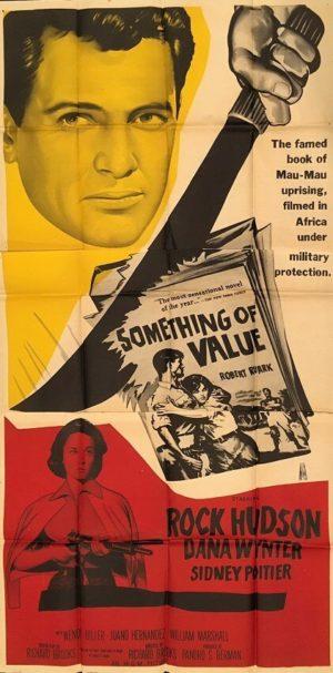 something of value australian 3 sheet movie poster