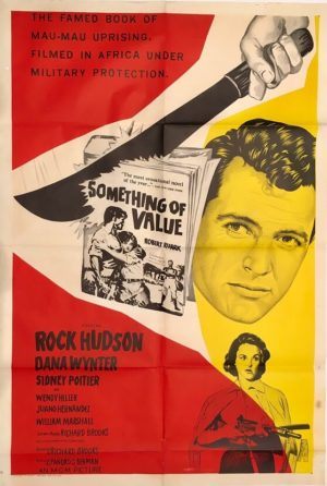 something of value australian one sheet movie poster