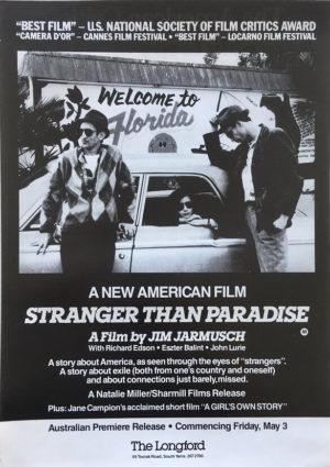 stranger than paradise australian flyer