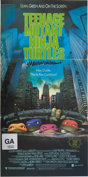 teenage mutant ninja turtles daybill poster 1990