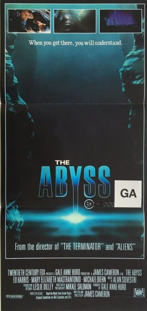the abyss daybill poster 1989