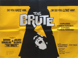the brute uk quad movie poster 1977