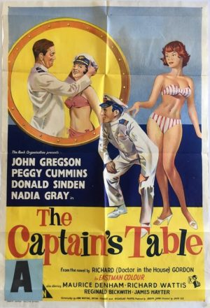 the captains table australian daybill poster