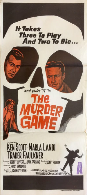 the murder game daybill poster