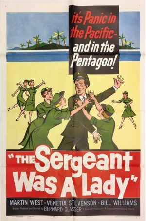 the sergeant was a lady one sheet movie poster 1961