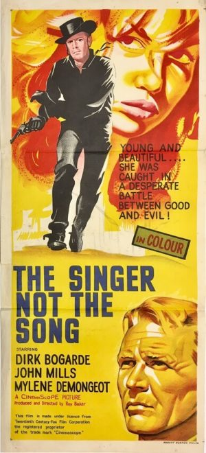 the singer not the song daybill poster with dirk bogarde and john mills