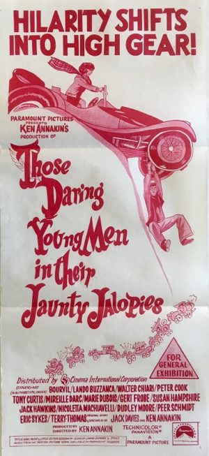 those daring young men in their jaunty jalopies daybill poster