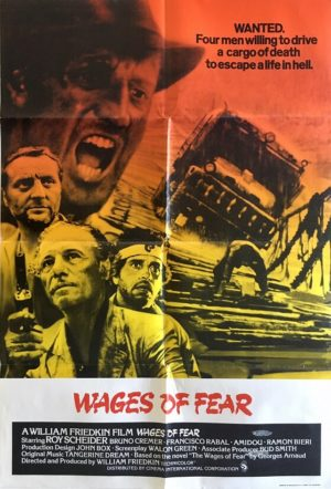 wages of fear uk one sheet movie poster