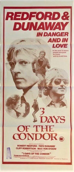 3 days of the condor australian daybill poster