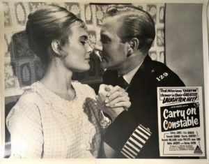 carry on constable australian lobby card 1960 featuring Leslie Phillips and Shirley Eaton