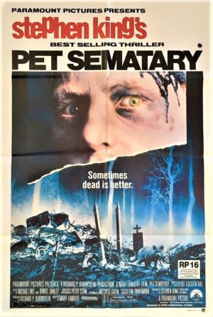 pet sematary australian one sheet poster stephen king