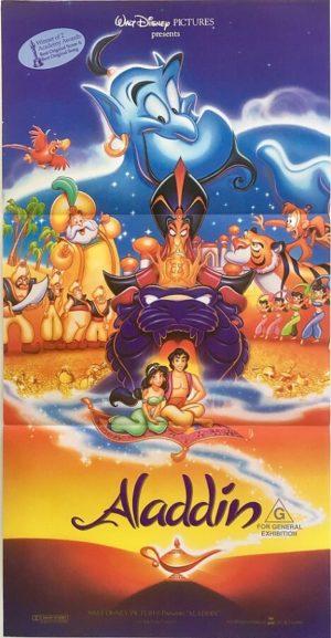 aladdin australian daybill poster 1992