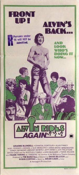 alvin rides again daybill poster alvin purple 1974
