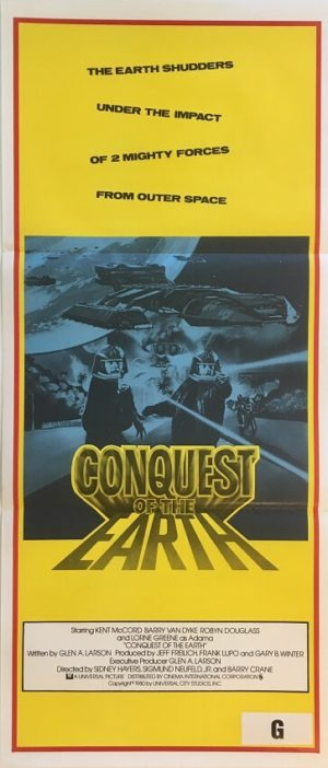 battlestar galactica conquest of the earth australian daybill poster (2)