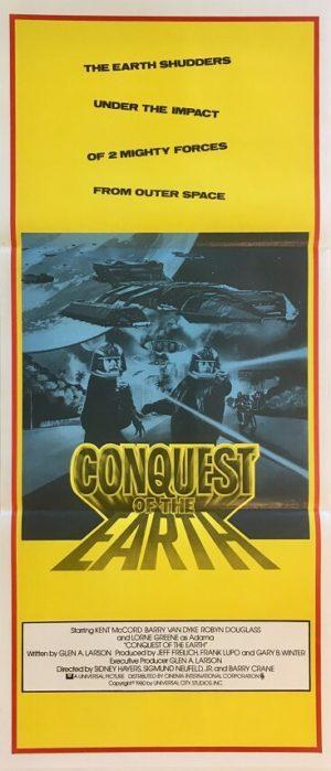battlestar galactica conquest of the earth australian daybill poster (2)