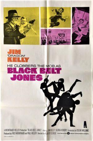 black belt jones us one sheet movie poster featuring jim kelly