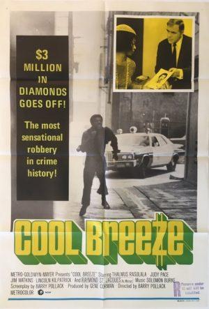 cool breeze australian one sheet blaxploitation movie poster