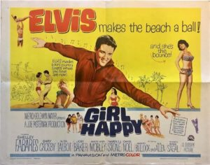 girl happy US half sheet movie poster with elvis presley 1965