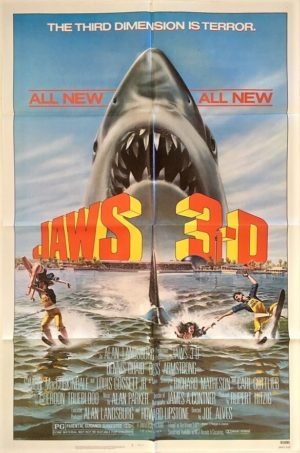 jaws 3D US one sheet movie poster (1)