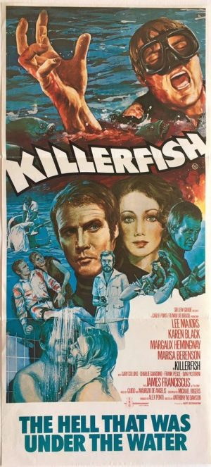 killer fish australian daybill poster with lee majors 1979