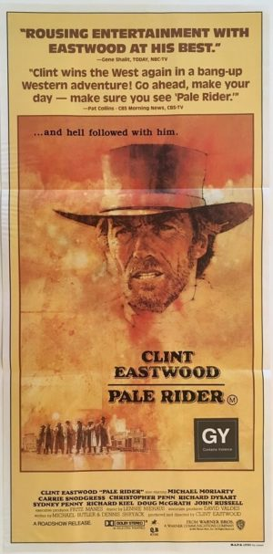 pale rider australian daybill poster featuring clint eastwood 1