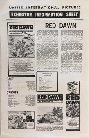 red dawn australian press sheet 1