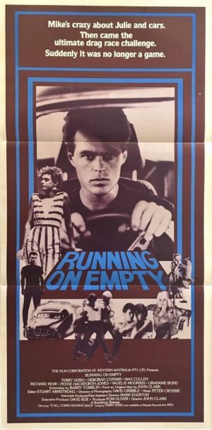 running on empty australian daybill poster 1982