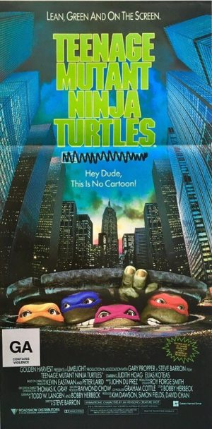 teenage mutant ninja turtles australian daybill poster 2