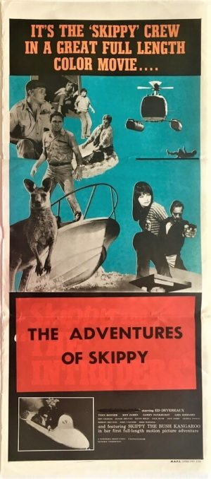the adventures of skippy or skippy and the intruders australian and new zealand daybill poster (1)