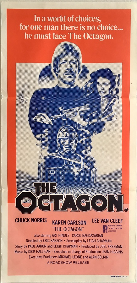 the octagon australian daybill poster with chuck norris
