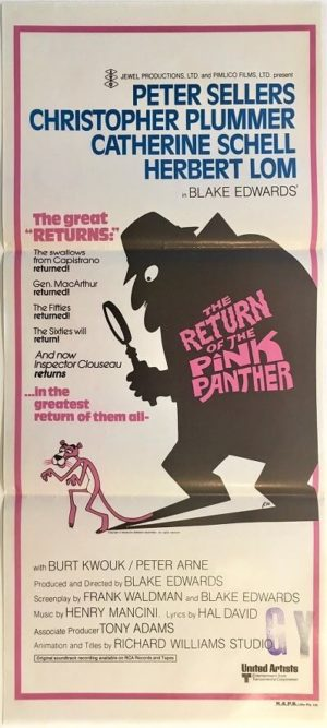 the return of the pink panther australian daybill poster