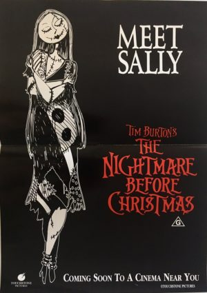 tim burtons the nightmare before christmas australian mini poster incredibly rare (3)